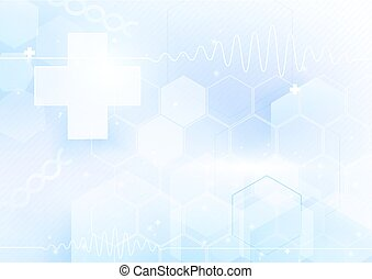 medicines and science concept. Abstract futuristic geometric and technology background