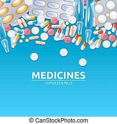 Medicines Background Illustration