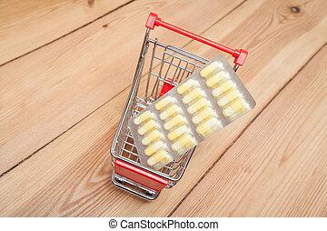 medicines in cart