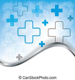 medicinsk, abstrakt, vektor, bakgrund, illustration