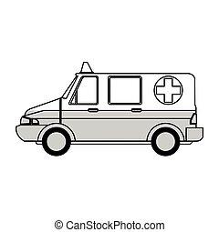 medicinsk, ambulans, ikon