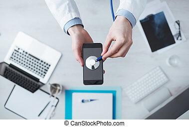 medicinsk, ambulant, app, og, teknologi