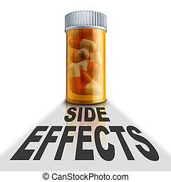 medicinsk behandling, recept, biverkningar