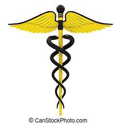 medicinsk, caduceus, symbol