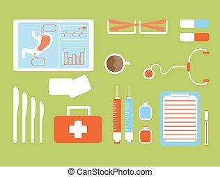 medicinsk, cartoon, firma