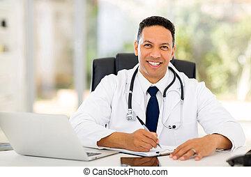 medicinsk doktor, ind, kontor
