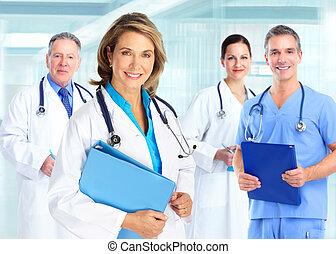 medicinsk, doktorer, hold