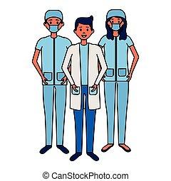 medicinsk, folk, lag