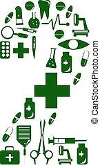 medicinsk, font., alfabet, gjord, av, medicinsk, pills., numerera 2