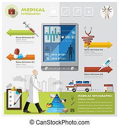 medicinsk, infographic, hälsa