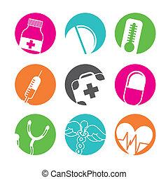 medicinsk, knapper