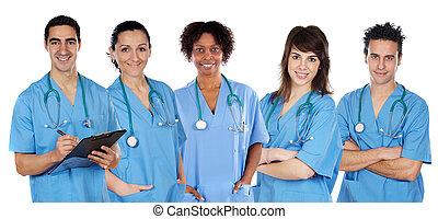 medicinsk, multi-ethnic, hold