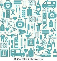 medicinsk, seamless, bakgrund