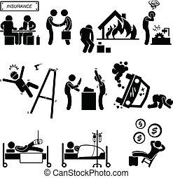 medicinsk, ulykke, dækning forsikring