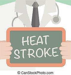 medicinsk, värme stryk, bord