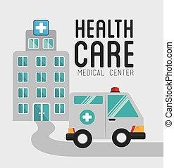 medicinsk, vektor, design, illustration.