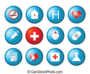 medicinsk, vektor, ikonen