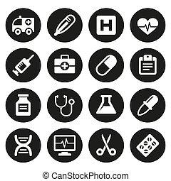 medicinske ikoner, sæt, 1