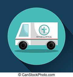 medico, ambulanza, veicolo