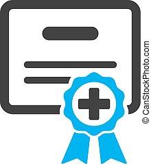 medico, certificato, icona