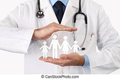medico, concetto, salute, assicurazione