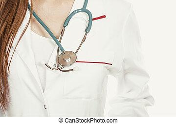 medico, cura, salute, stetoscopio, dottore