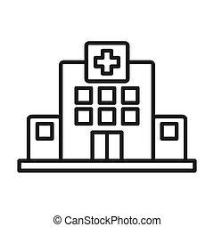 medico, disegno, centro, illustrazione