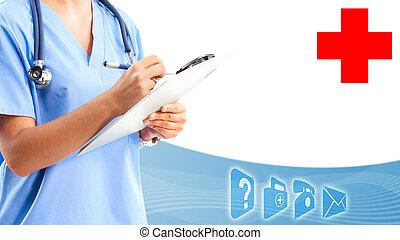 medico, dottore, mani