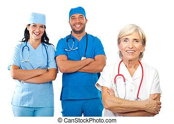 medico, felice, squadra