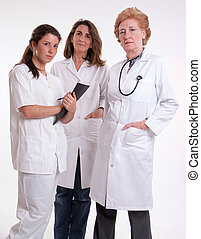 medico, femmina, squadra