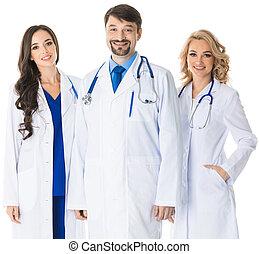 medico, gruppo, dottori