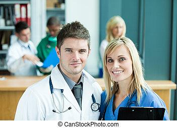 medico, in, ospedale
