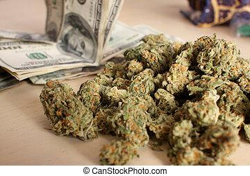 medico, mucchio, marijuana