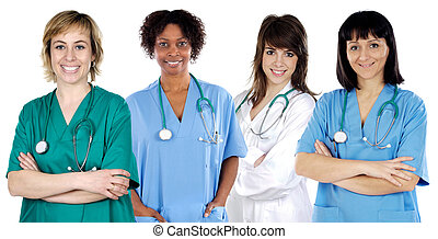 medico, multi-etnico, squadra