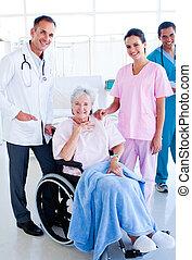 medico, paziente, anziano, squadra
