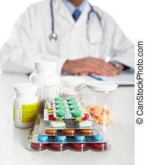 medico, prescrizione, dottore, scrittura