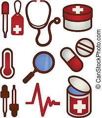 medico salute, cura, icona