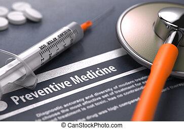 medico, -, stampato, medicina, diagnosis., preventivo, ...