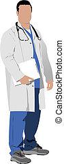 medico, v, dottore, stethoscope.