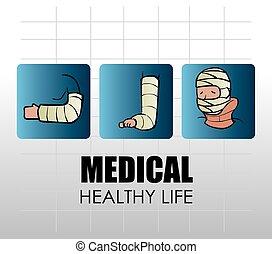 medico, vettore, disegno, illustration.