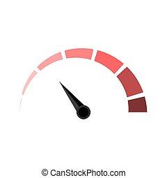 medida, indicador, engrossar, medida, vetorial