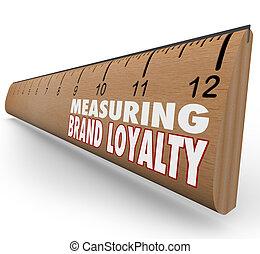medida, seu, marque lealdade, régua, marketing, força