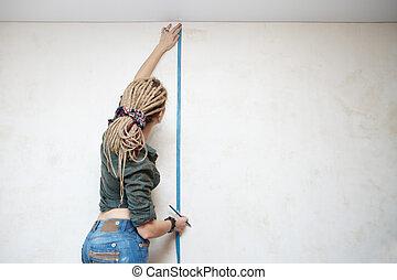 medida, wall.