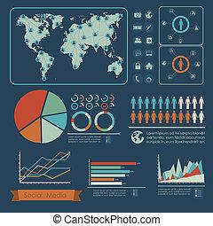 medien, infographic, sozial
