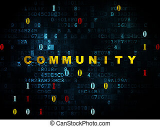 medien, sozial, gemeinschaft, hintergrund, digital, concept: