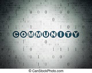 medien, sozial, gemeinschaft, papier, hintergrund, digital, concept: