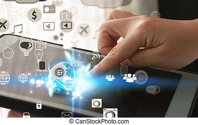 medier, concept., sociale
