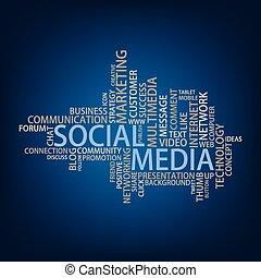 medier, etiketten, sky, sociale