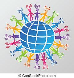 medier, globalt netværk, sociale