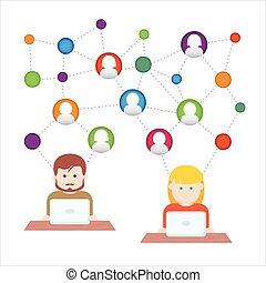 medier, netværk, sociale